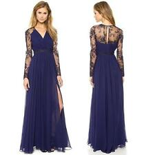 Fashion Women Lace Chiffon Evening Formal Party Cocktail Ball Gown Long Dress