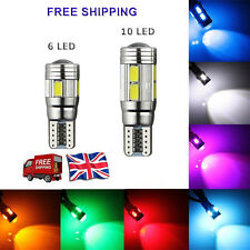 T10 CAR SIDE LIGHT BULB SMD LED CANBUS ERROR FREE 501 W5W XENON WHITE WEDGE LAMP