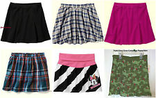 NWT Girls' Fleece Cotton Poly Solid Plaid Camo Striped Above Knee Skirts 5-16