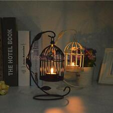 Black or White Birdcage Lantern Candle Holder Tea Light Stand Centerpiece Decor