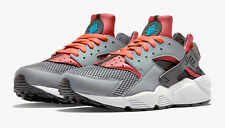 NIKE AIR HUARACHE CL GREY/ BRIGHT CRIMSON NEW 318429 009
