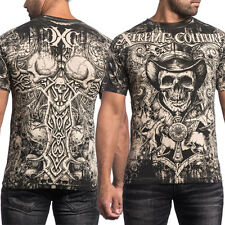 Xtreme Couture The Conjuring Old West Skulls Cross UFC MMA Mens T-Shirt Tan NEW