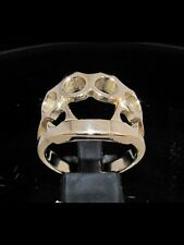 "Mens Bronze ""Knuckle Duster "" Biker Ring - US Sizes 6 - 20"