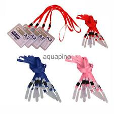10Pcs Neck Strap Lanyard String Cord For ID Pass Card Badge With PVC Hook 3Color