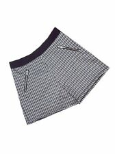 M&S Girls Dogtooth Check Black & White Print shorts Ages 6-7, 7-8, 10-11, 13-14