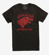 """Game Of Thrones STARK SEAL DIREWOLF """"WINTER IS COMING"""" T-Shirt NWT Licensed"""