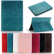 """Crocodile Wallet PU Leather Smart Case Cover Stand for Apple iPad Pro 9.7""""/12.9"""""""