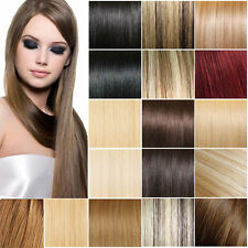 """7PCS Full Head Human Hair Clip In Remy Hair Extensions Straight 15-28"""" 70g-120g"""