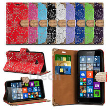 Glitter Diamond Encrusted Tab Wallet Case Cover For Apple iPhone 6 (4.7 inch)