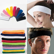 Hot Sale!Women Men Sport Sweat Sweatband Headband Hair Band Yoga Gym Stretch