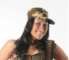 CAMO HAT ADULTS UNISEX FANCY DRESS ARMY SOLDIER CAMOUFLAGE CAP MILITARY HAT