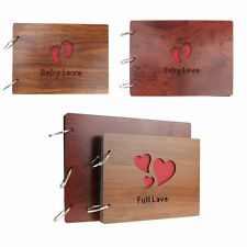 Large/Small Handmade Wooden Baby Lovers Memory Wedding Photo Album Guest Book
