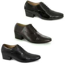 Mens Patent/Leather Latin Salsa Dance Lace Up Formal Smart Cuban Heel Shoes