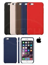 Apple iPhone 6S Plus - Leather Hard Back Case with Screen Protector