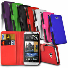 HTC M10 (2016) - Leather Wallet Card Slot Case Cover