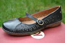 K by Clarks BNIB Ladies Mary Jane Shoes Elana Page Black Leather UK 5 Wide