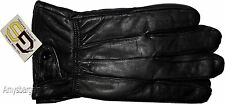 Men's Leather Gloves, Winter Gloves, hand warmer Black leather gloves Gloves #02