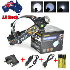 Rechargeable 6000LM XM-L2 T6 LED Zoom HeadLamp Head Light Torch 2x18650+Gift box