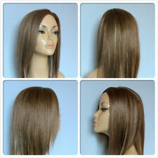 HIGH HEAT RESISTANT FIBRE LONG SMOOTH LAYERS LADY WIG SKIN TOP PARTING F-011