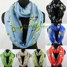 Dragonfly Print Summer Scarf Long Scarf/Infinity Scarf Snood Womens Ladies Scarf