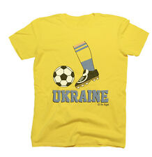 Mens Football Boot T-Shirt UKRAINE Fan Top Euro 2016