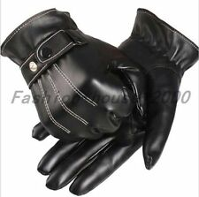 Fashion Mens Winter Leater Driving Motorcycle Biker Full Finger Warm Gloves New