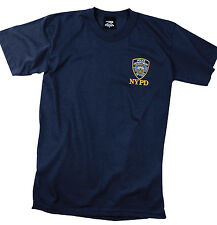 NYPD Shirt New York Police Dept Navy Blue Tee Shirt Officially Licensed 6656