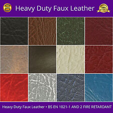 "Faux Leather Fabric Heavy Duty Leatherette Upholstery Vinyl Material 54"" Width"