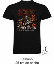 T-SHIRT ACDC-AC/DC HELLS BELLS T-SHIRT MUSIC ROCK BOY GIRL MUSIC SIL Ma002