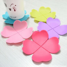 Coaster Sets Creative Flower Shaped Silicone Cup Mat Ideal Tea Placemat