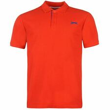 Slazenger Mens Plain Polo Shirt Red New With Tags