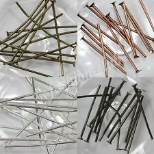 50/100/200X Plated Flat Head Pin Jewelry Finding Making DIY Crafts 20/30/40/50mm