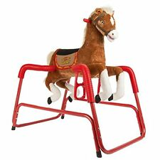 Rocking Horse Talking Singing Plush Spring Rockin' Rider Lucky w/ Sound Effects