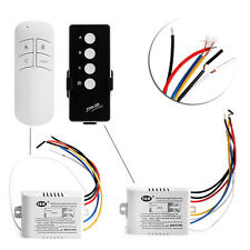 New 220V Wireless 3 Ways ON/OFF Lamp Remote Control Switch Receiver Transmitter