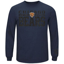 Majestic Chicago Bears Navy Blue Victory Pride Long Sleeve T-Shirt