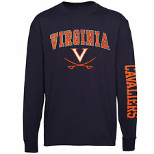 Virginia Cavaliers Youth Navy Blue Distressed Arch & Logo Long Sleeve T-Shirt