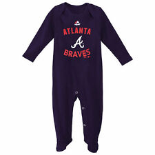 Majestic Atlanta Braves Infant Navy Blue Dugout Thermal Bodysuit