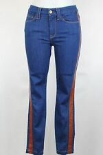 7 For All Mankind Seven Ankle Skinny Jeans W Leather Trim Size 26, 28, 29