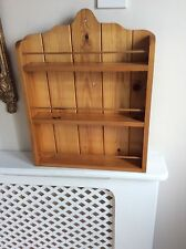Wooden Spice Rack Wall Shelf