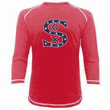 Majestic Threads Chicago White Sox Red Vintage Logo 3/4-Sleeve Raglan T-Shirt