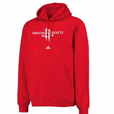 adidas Houston Rockets Red Logo Pullover Hoodie Sweatshirt