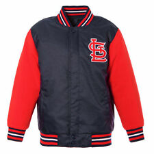 JH Design St. Louis Cardinals Youth Navy/Red Reversible Fleece Jacket