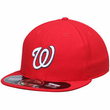New Era Washington Nationals Red AC On-Field 59FIFTY Game Performance Fitted Hat