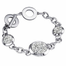 New Womens 925 Silver Plated Bracelet Fashion Gift Chain Style Popular Hot Cute