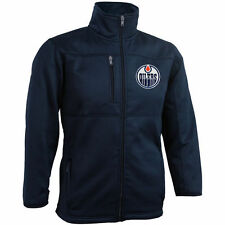 Reebok Edmonton Oilers Youth Navy Bonded Fleece Full-Zip Jacket