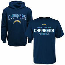 San Diego Chargers Youth Navy T-Shirt & Hoodie Set