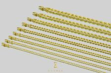 "1.5mm-5mm 10k Rope Diamond Cut Solid Yellow Gold Chain Necklace Unisex 16""-30"""