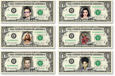 CELEBRITIES on REAL Dollar Bill Cash Money Memorabilia Collectible Bank Note V.4
