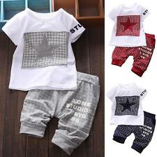 Toddler Baby Boy Tee Shirt+Casual Pants Trousers Outfits Set Kids Clothes