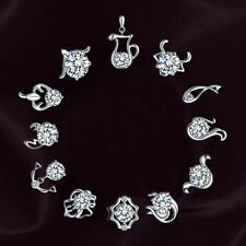 Women's Fashion Jewelry 925 Sterling Silver Earring Crystal Rhinestone Ear Stud